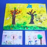 Prace dzieci z grup starszaków na temat szkodliwości dymu tytoniowego