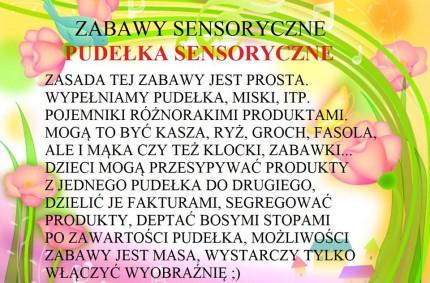 Zabawy sensoryczne